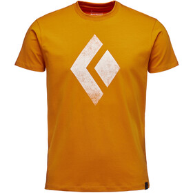 Black Diamond Chalked Up Kortærmet T-shirt Herrer orange